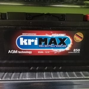 АКУМИУЛАТОР KRIMAX 12V 95AH 850A AGM TECHNOLOGY